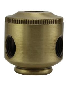 2-Piece Small Cluster Body - 2 Side Holes - Satin Brass