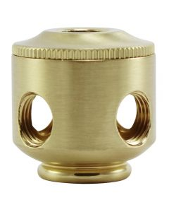 2-Piece Small Cluster Body - 4 Side Holes - Satin Brass