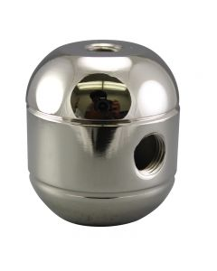 2-Piece Round Cluster Body - 3 Side Holes - Polished Nickel