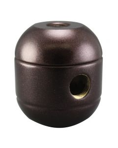2-Piece Round Cluster Body - 2 Side Holes - Bronze
