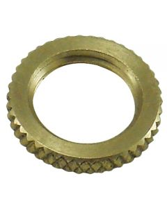 "3/4"" Brass 1/8 IPS - Knurled Lock Nut - Unfinished"