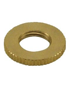 Brass 1/8 IPS - Knurled- Heavy Lock Nut - Burnished & Laquered