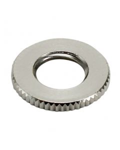 Brass 1/8 IPS - Knurled- Heavy Lock Nut - Nickel Plated