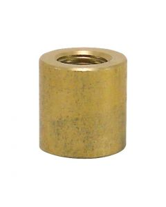 "3/4"" Heavy Brass Coupling - 1/4 IPS Unfinished"