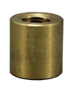 "1"" Heavy Brass Coupling - 1/4 IPS Unfinished"