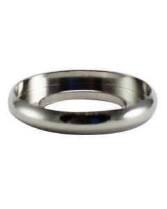 "5/8"" Brass Turned Check Ring - Polished Nickel"