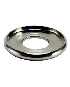 "7/8"" Brass Turned Check Ring - Polished Nickel"