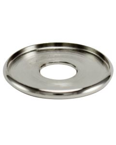 "1-1/8"" Brass Turned Check Ring - Polished Nickel"