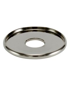 "1-1/4"" Brass Turned Check Ring - Polished Nickel"