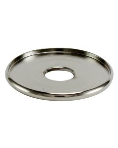 "1-3/8"" Brass Turned Check Ring - Polished Nickel"