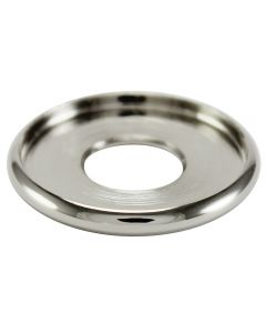 "15/16"" Brass Turned Check Ring - Polished Nickel"