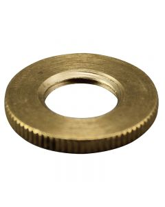 "1"" Brass 1/4 IPS - Knurled Lock Nut - Unfinished"