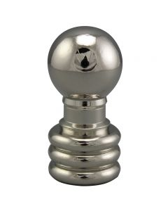 "1-1/8"" Solid Brass Finial - Polished Nickel"