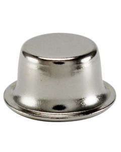 "1/2"" Stamped Finial - Polished Nickel"