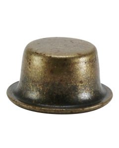 "1/2"" Stamped Finial - Antique Brass"