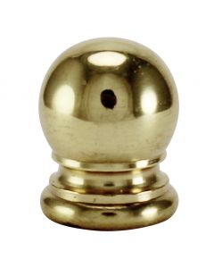 "3/4"" Solid Brass Finial - Polished & Lacquered"