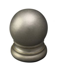 "3/4"" Solid Brass Finial - Satin Nickel"
