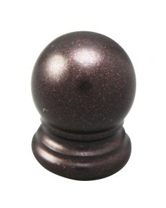 "3/4"" Solid Brass Finial - Bronze"