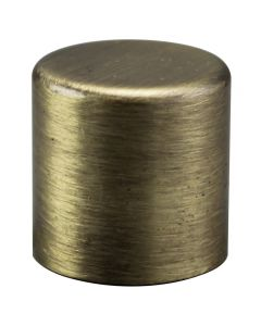 "3/4"" Medium Cylinder Finial - Antique Brass"