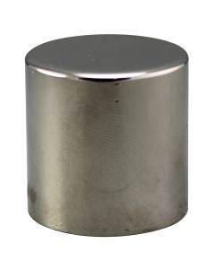 "1"" Large Cylinder Finial - Polished Nickel"