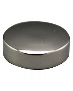 "3/4"" Medium Flat Brass Caps - Polished Nickel"