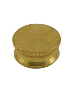 "9/16"" Brass Bracket Cap - Burnished & Lacquered"