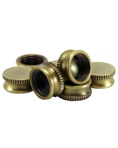 "9/16"" Brass Bracket Cap - Antique Brass"