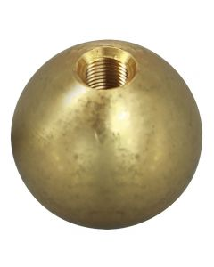 """5/8"""" 1/8IP Turned Solid Brass Ball - Unfinished"""