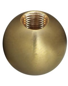 "1"" 1/8IP Turned Solid Brass Ball - Unfinished"