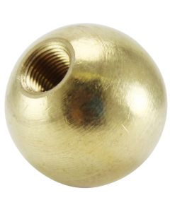 "1-1/4"" 1/8IP Turned Solid Brass Ball - Unfinished"