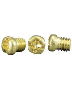 #8/32 Round Head Brass Screw - Unfinished