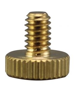 Wide Head Solid Brass Thumb Screw - Unfinished