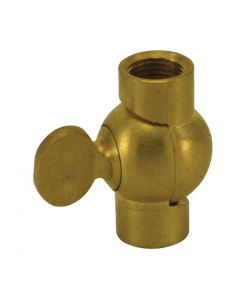 Brass Swivel With Butterfl y Knob - Unfinished