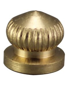 Brass Knurled Knob - Burnished & Laquered