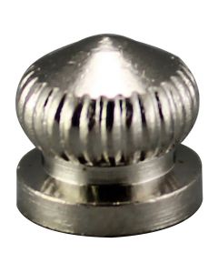 Brass Knurled Knob - Polished Nickel
