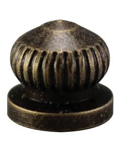 Brass Knurled Knob - Antique Brass