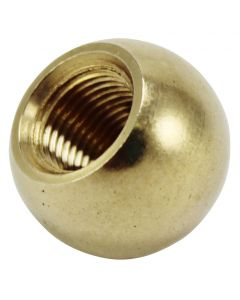 "1/2"" 1/4-27 Turned Solid Brass Ball - Unfinished"