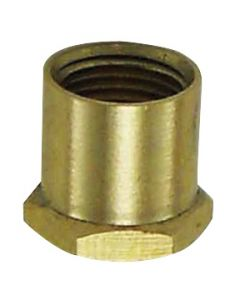 "Hex Head Brass Coupling - 1/2"" Unfinished"