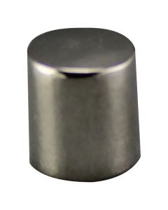 #8/32 Brass Cylinder Knob - Polished Nickel