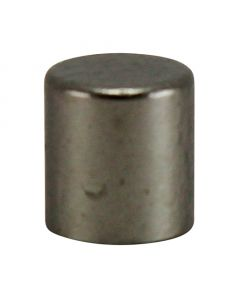 #8/32 Brass Cylinder Knob - Satin Nickel