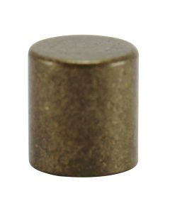 #8/32 Brass Cylinder Knob - Antique Brass