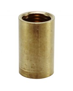 "1"" 1/4IP Long Brass Coupling - Unfinished"