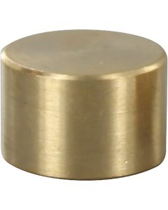 Small Flat Brass Caps - Unfinished