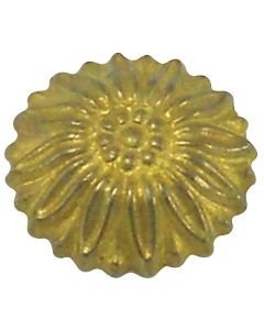 Cast Brass Rosette Cap - Unfinished