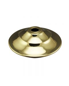 "2-1/4"" Brass Vase Cap - Polished & Lacquered"