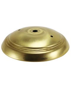Ridged 3-Hole Solid Brass Canopy - Unfinished