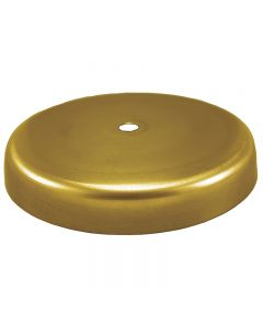 Solid Brass Plain Round 1-Hole Canopy - Unfinished