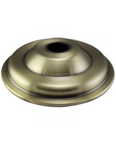 Large Steel Antique Style Screw Collar Canopy - Antique Brass