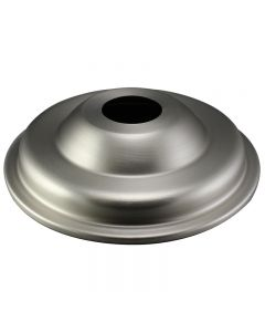 Large Steel Antique Style Screw Collar Canopy - Satin Nickel
