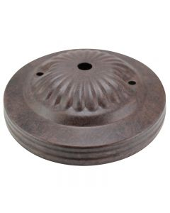 Embossed 3-Hole Canopy - Rubbed Bronze